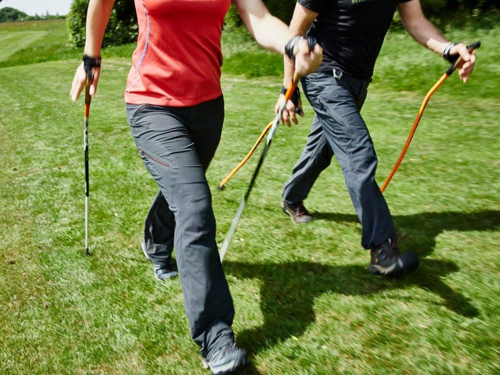 Правила скандинавской ходьбы с палками для пожилых: польза, вред, разминка, сколько ходить