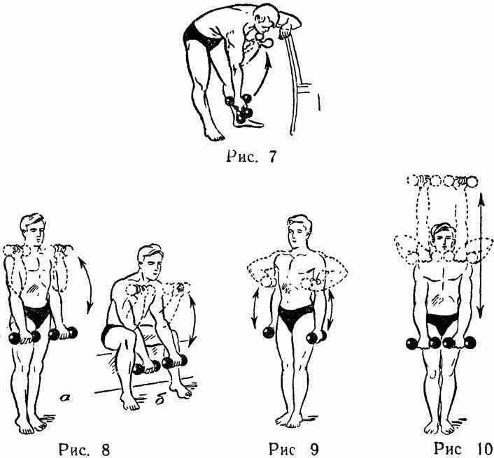 Подборка упражнений с одной гантелью в домашних условиях