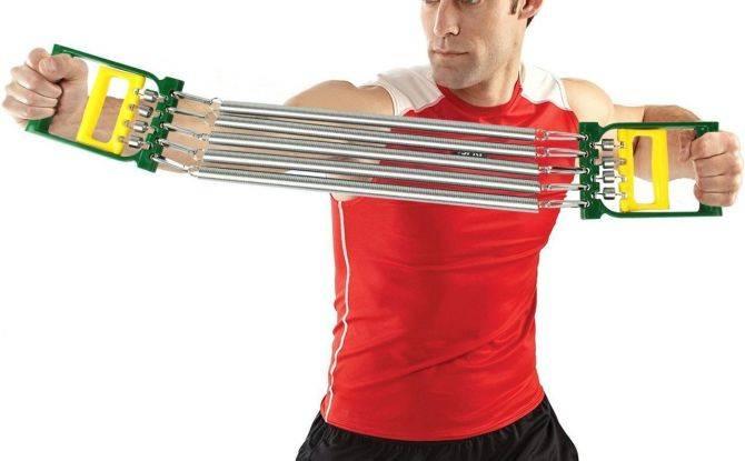 Упражнения с эспандером для груди для мужчин и женщин