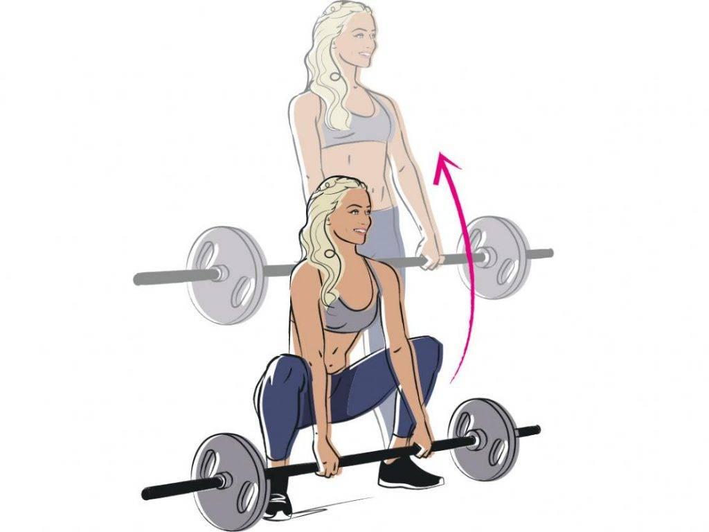 Становая тяга для женщин: техника выполнения, разновидности