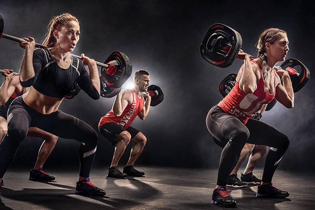 Body pump: тренировка для всех групп мышц
