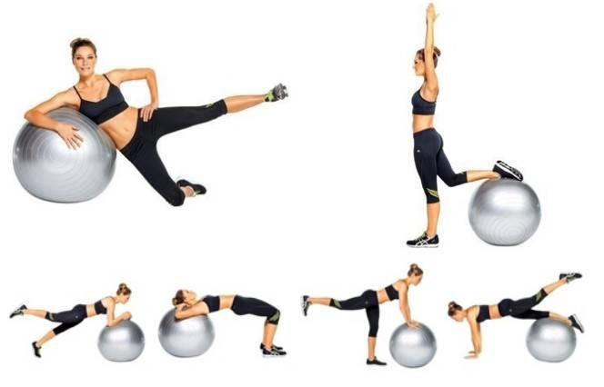 Упражнения для развития силы на мяче (фитболе)