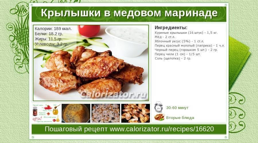 Всё о калорийности курицы