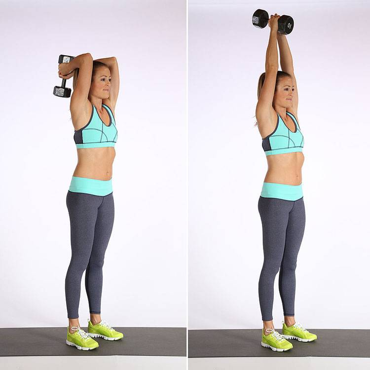 Как накачать руки гантелями девушке: упражнения для тренировки мышц рук гантелями для женщин