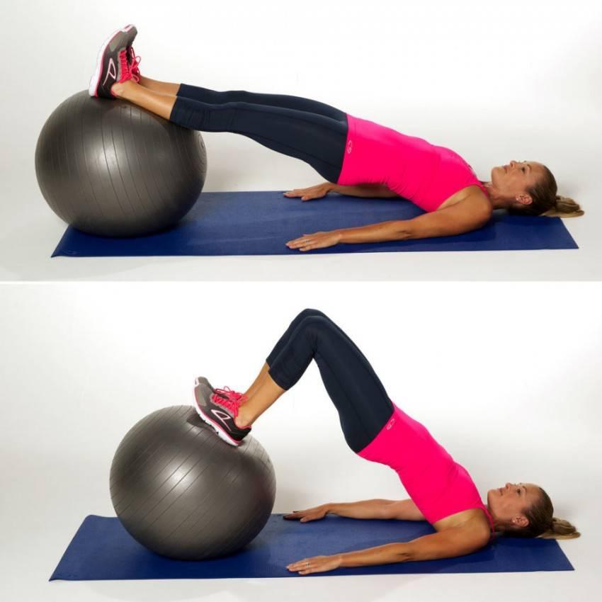 Упражнения на фитболе для ягодиц и бедер: гиперэкстензия, прыжки, ягодичный мостик и другие движения на мяче для фитнеса