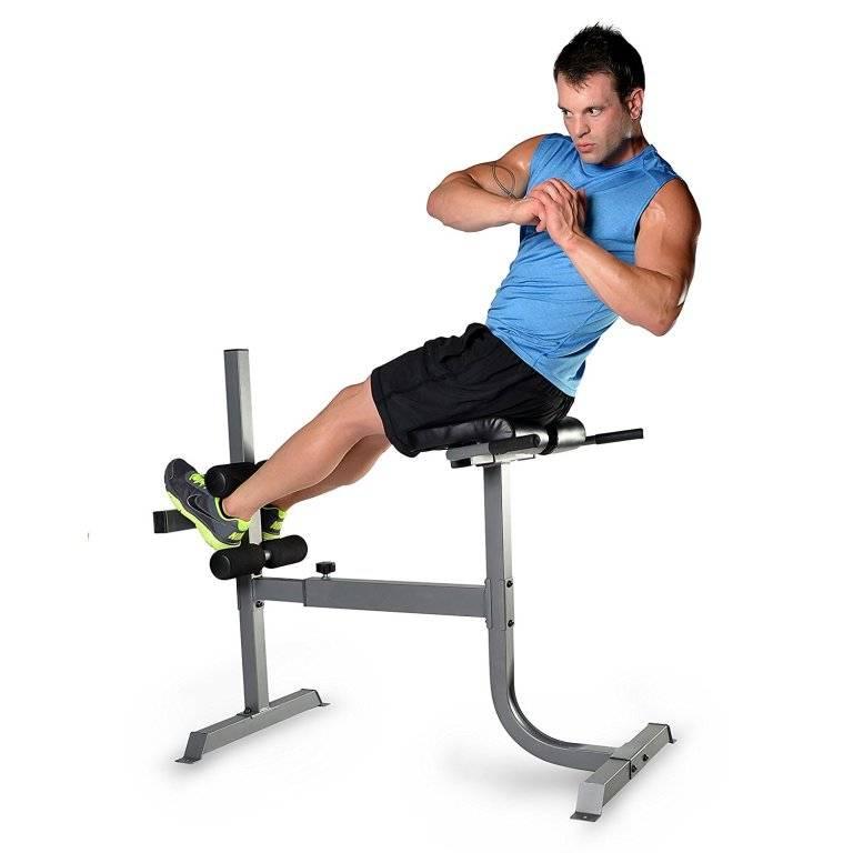 Скручивание на наклонной скамье (римский стул)