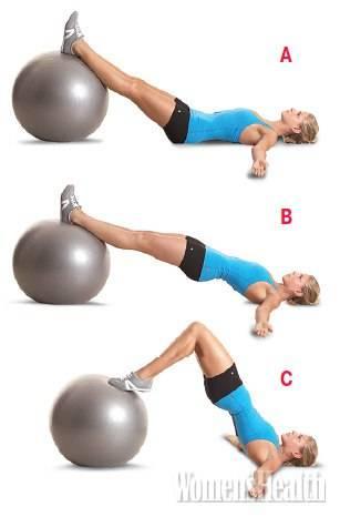Топ-50 упражнений с фитболом для похудения (фото)