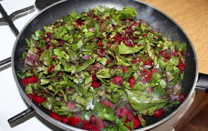 Салат листья свеклы рецепт