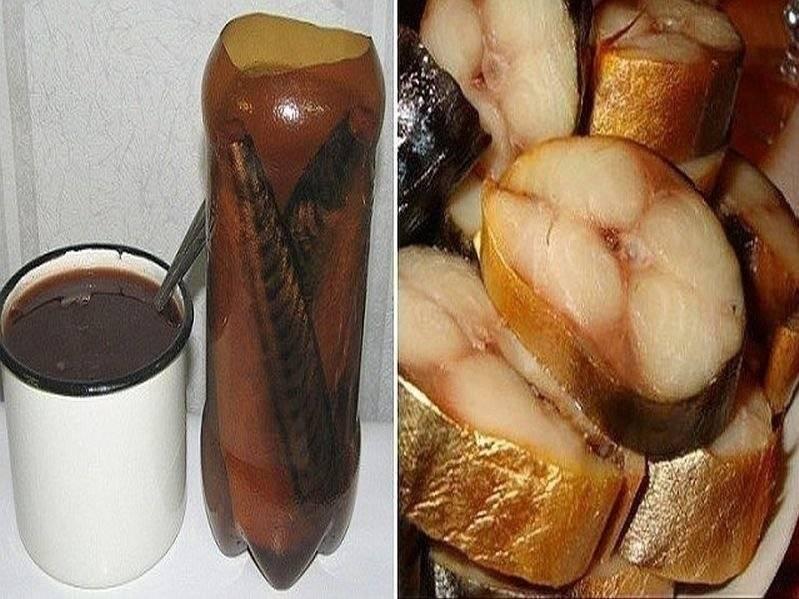 Скумбрия в бутылке в луковой шелухе, как копчёная: пошаговый рецепт с фото и видео