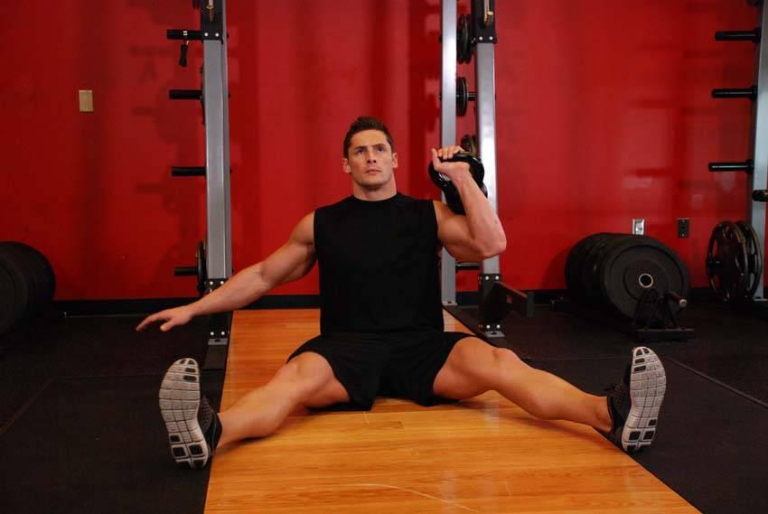 Упражнения с гирями в домашних условиях