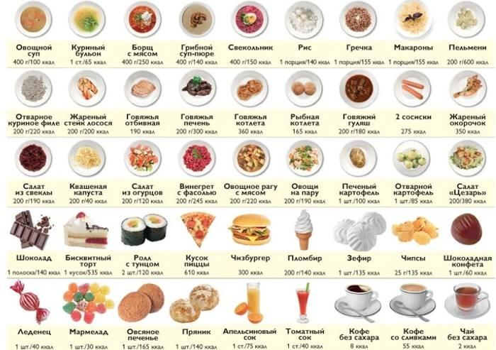 Сладкая сказка. таблица калорийности и химический состав продуктов питания