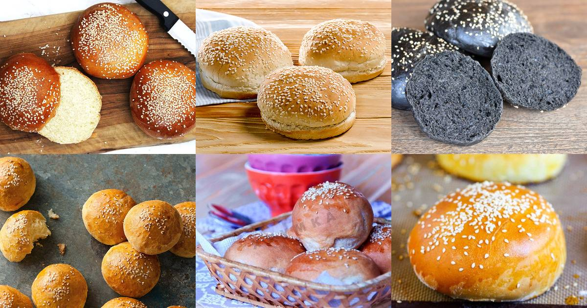 Домашние булочки для гамбургеров пошаговый рецепт