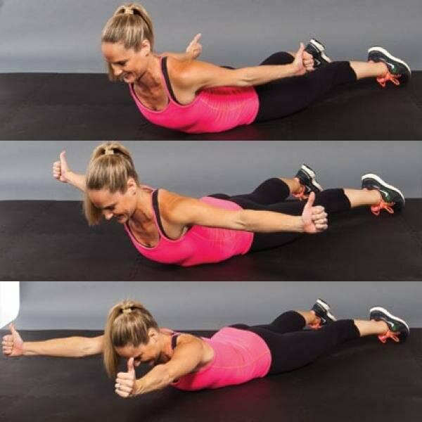 Девять упражнений для избавления от жировых складок на спине