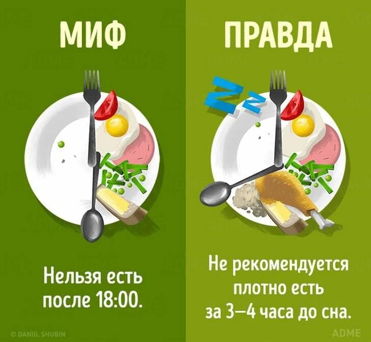 Самые распространенные мифы о диетах и похудении