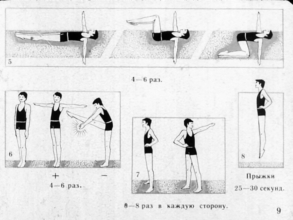 Утренняя зарядка — комплекс упражнений