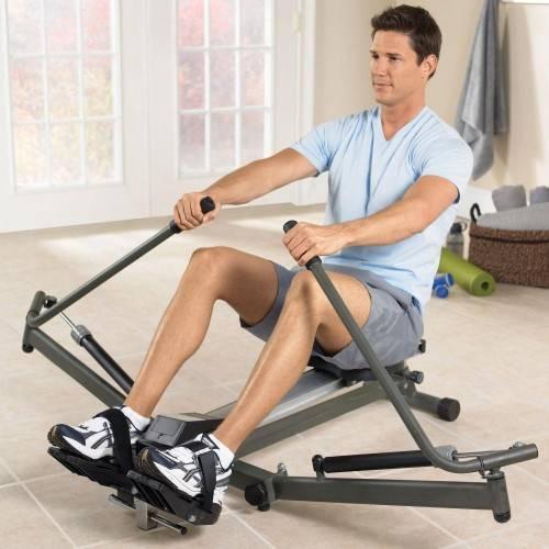 Гребной тренажёр какие мышцы работают
