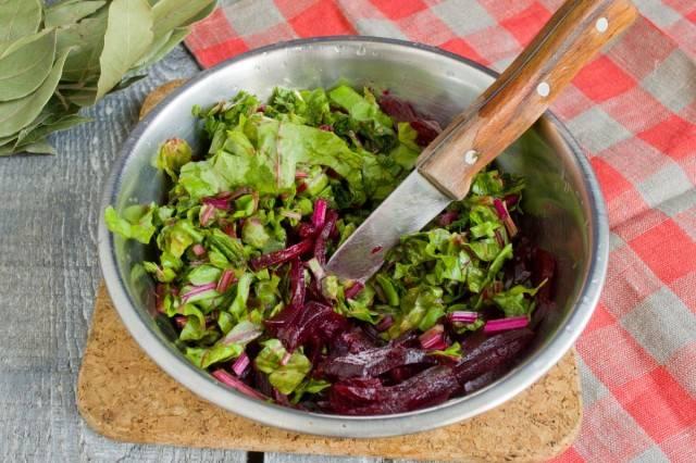 Рецепты с листьями свеклы рецепт
