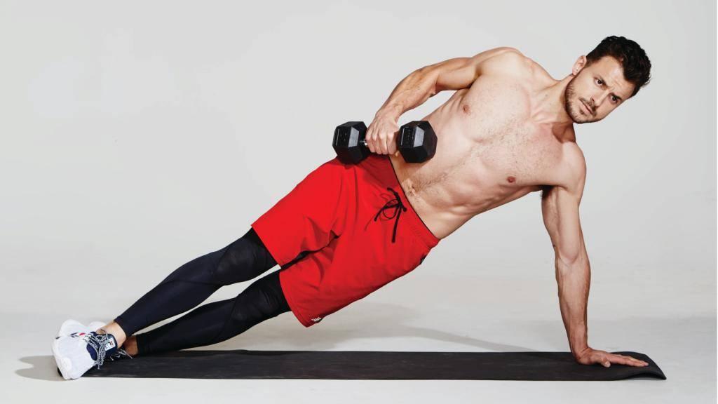 Мышцы пресса тренировка с гантелями