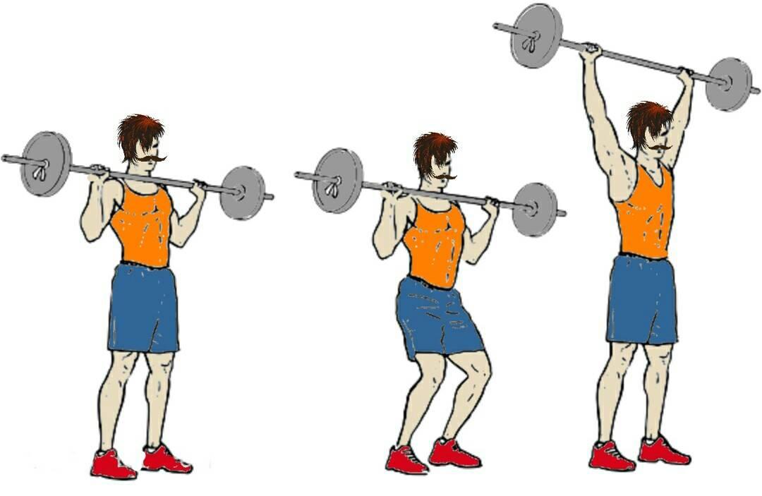 Толчок гири одной рукой: работающие мышцы и техника выполнения