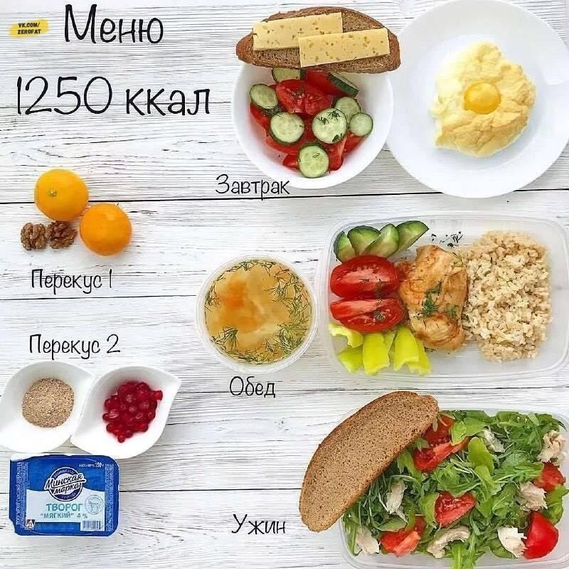 Меню на 1500 калорий в день для правильного питания - dietoid