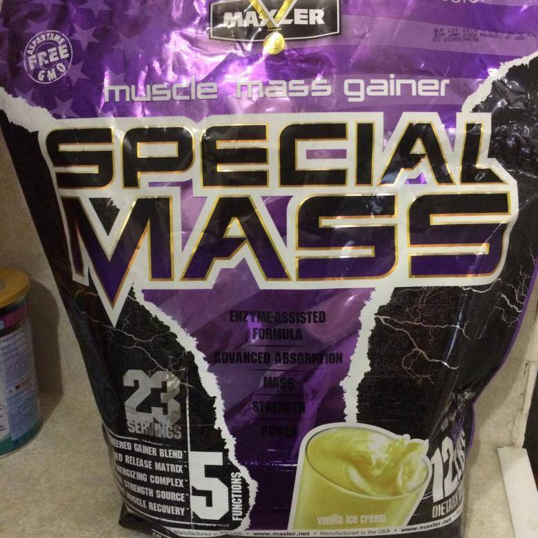 Обзор гейнера special mass от компании макслер