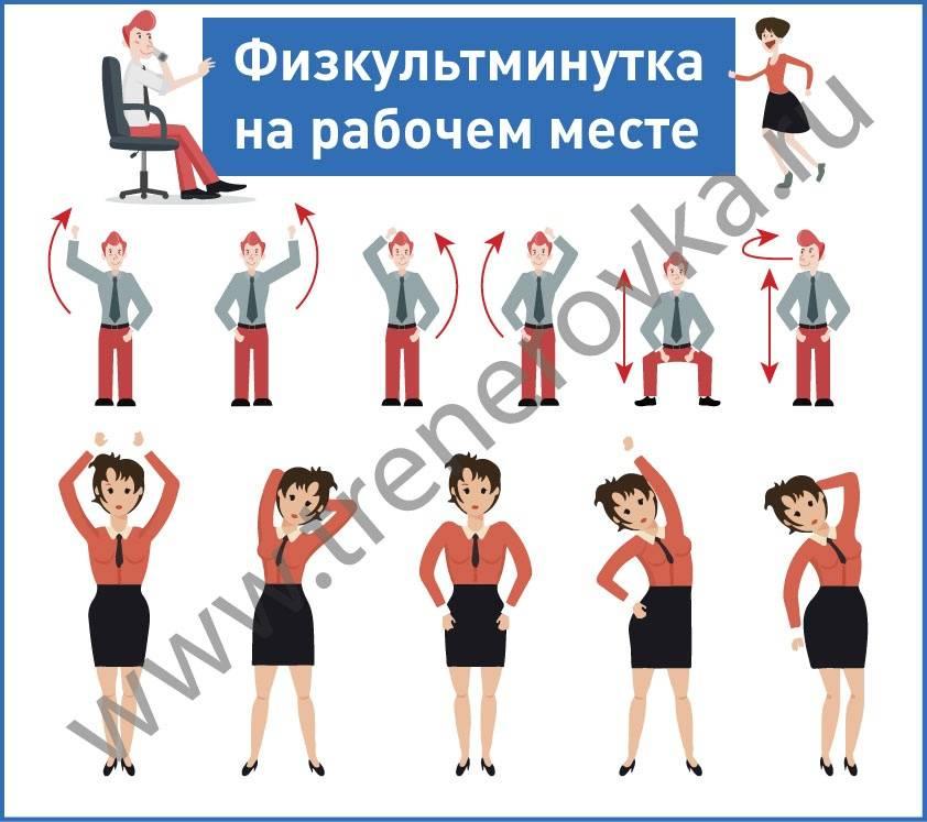 15 лучших физических упражнений для офисных работников