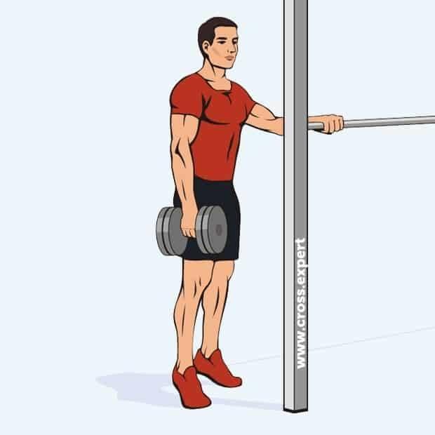 Подъём на носки в тренажёре стоя