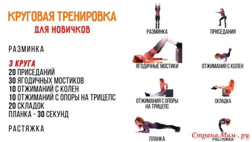 План силовых тренировок для похудения и сжигания жира на неделю