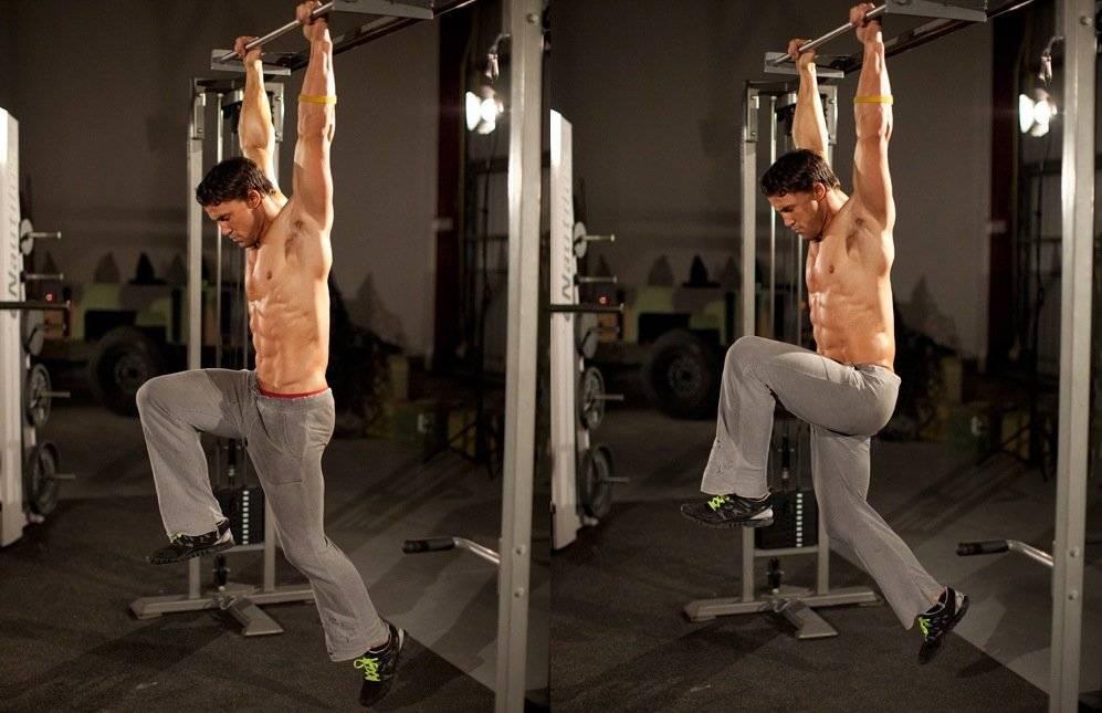 Подъем ног в висе - качаем три мышцы пресса одновременно