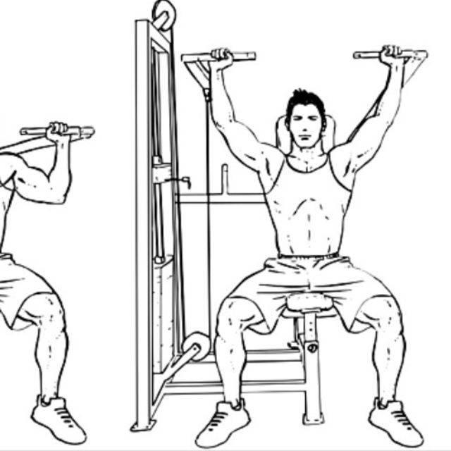 Жим в тренажере на плечи: техника и вариации выполнения, какие мышцы работают