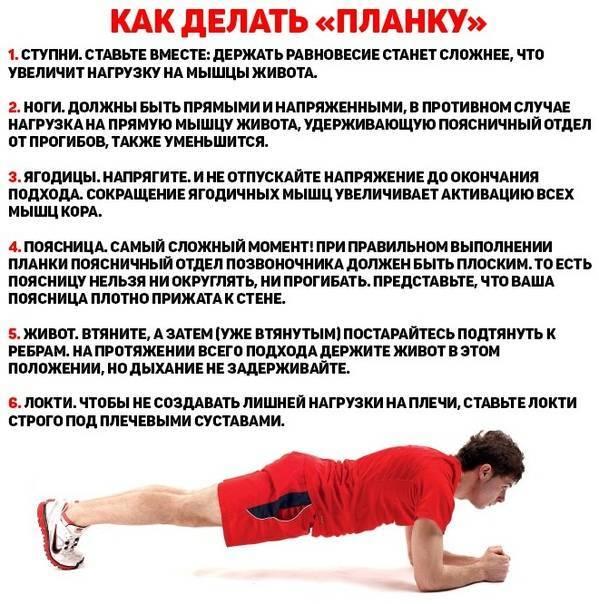 Упражнение планка: как правильно делать, польза и вред и программа на 30 дней