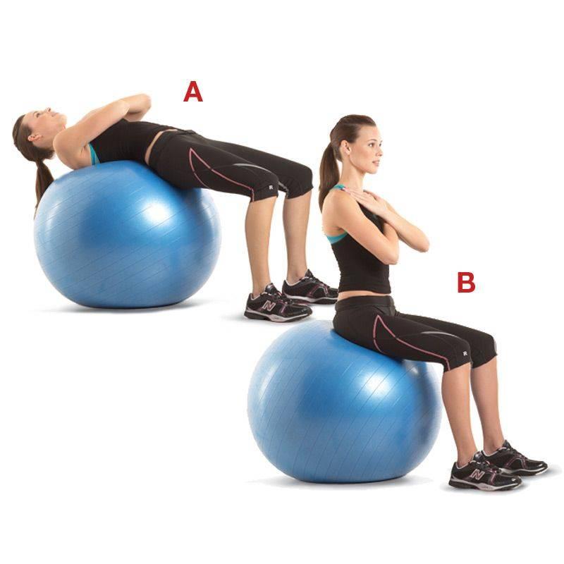 Упражнения на фитболе, описание, плюсы и минусы тренировок, выбор мяча