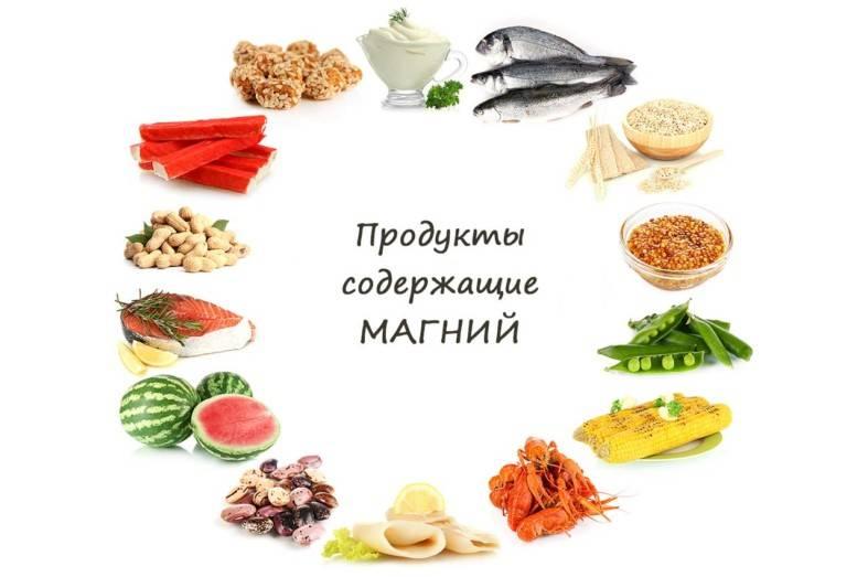 В каких продуктах содержится магний: таблица богатых продуктов
