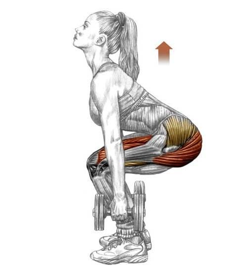 Тяга гантели в наклоне для v-образной спины