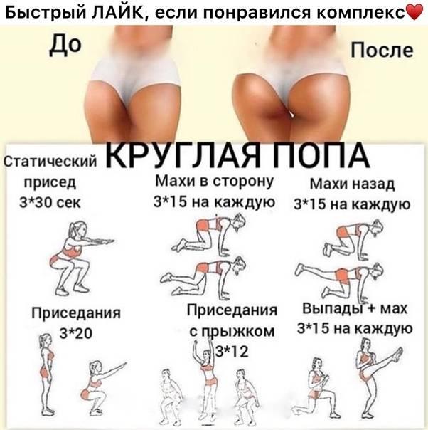 Как накачать попу в домашних условиях при помощи упражнений