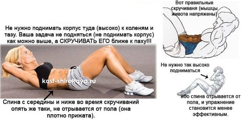Упражнения на пресс без нагрузки на позвоночник и поясницу