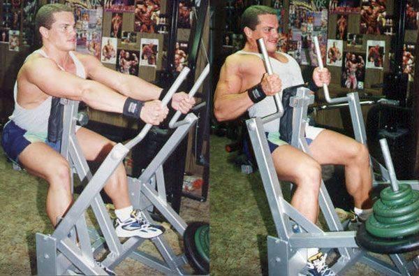 Горизонтальная тяга в блочном тренажере: техника выполнения упражнений на спину сидя