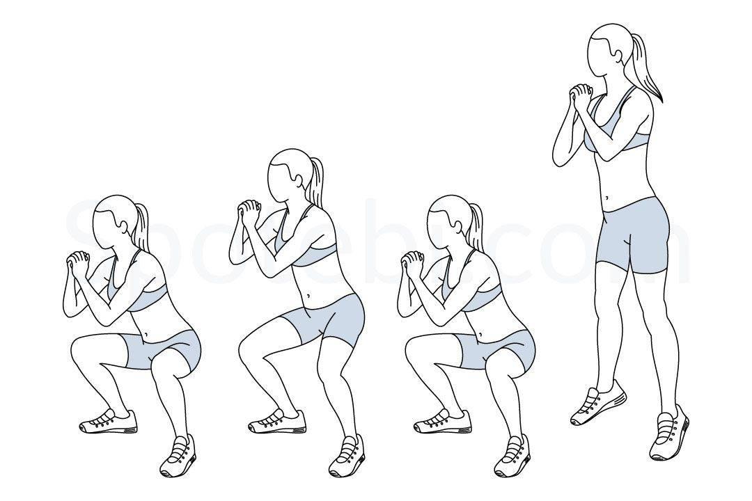 Полуприсед: как правильно делать упражнение со штангой, какие мышцы работают