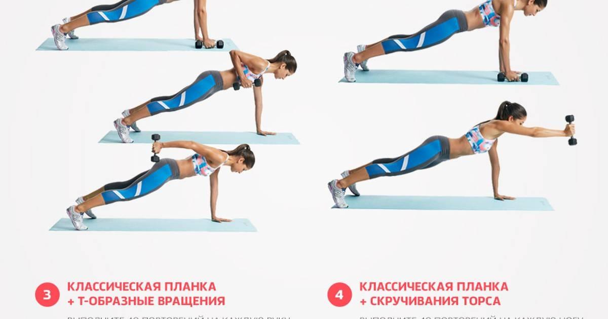 Планка для похудения— самые лучшие упражнения для всего тела