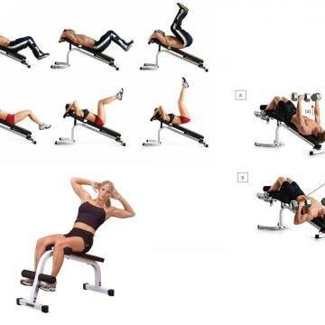 Скамья для пресса: виды спортивных скамеек + упражнения (видео/фото советы)