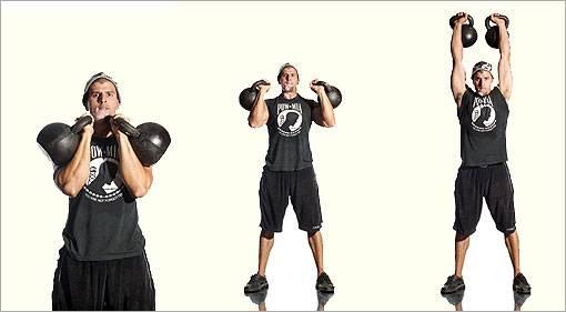 Лучшеи упражнения с гирей на все группы мышц и коомплекс круговй тренировки с гирей в доомашних условиях