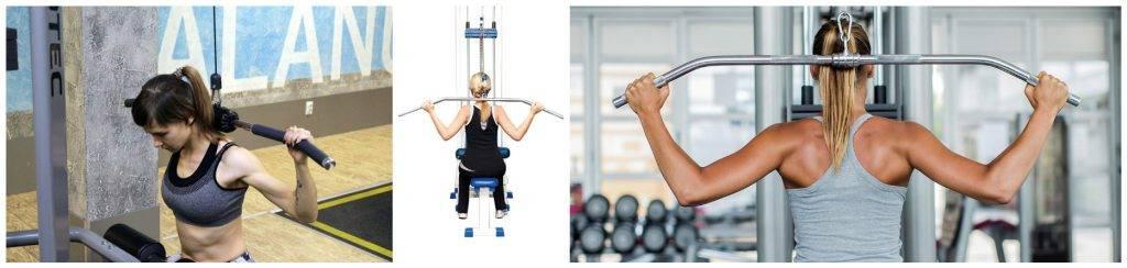 Тяга верхнего блока к груди или за голову — fit4gym - бодибилдинг и фитнес для начинающих
