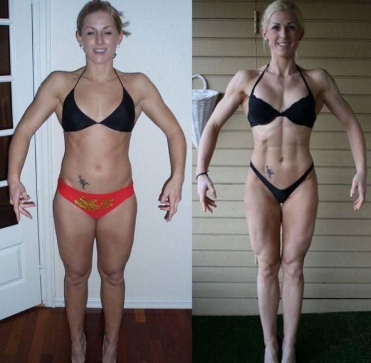 Фитнес-бикини: галерея фото девушек до и после сушки тела