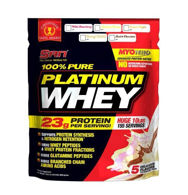 Platinum whey 100% pure 2,24 кг san — купить за 3090