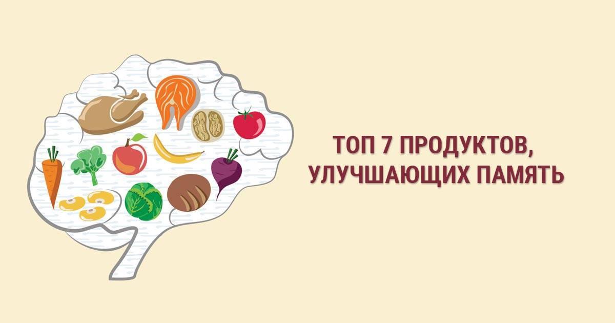 Продукты для улучшения работы мозга и памяти