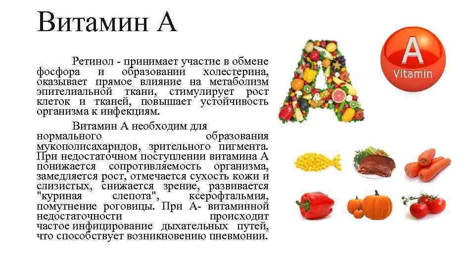Витамин а: вкаких продуктах его много ичем опасна передозировка