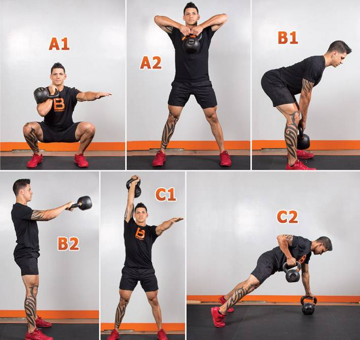 Упражнения с гирями в домашних условиях - 4 варианта с техникой выполнения
