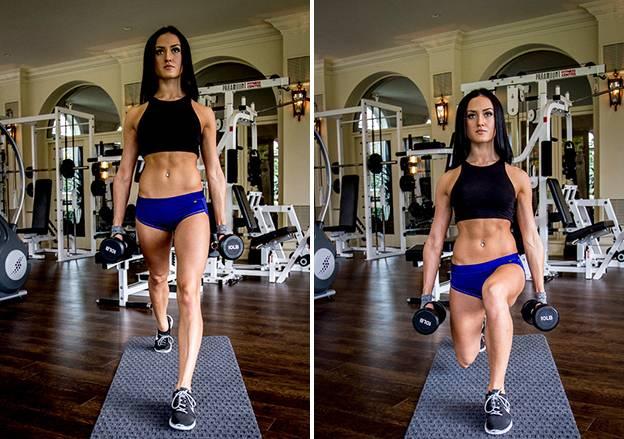 Упражнения на ягодицы и ноги с гантелями | nogihelp.ru
