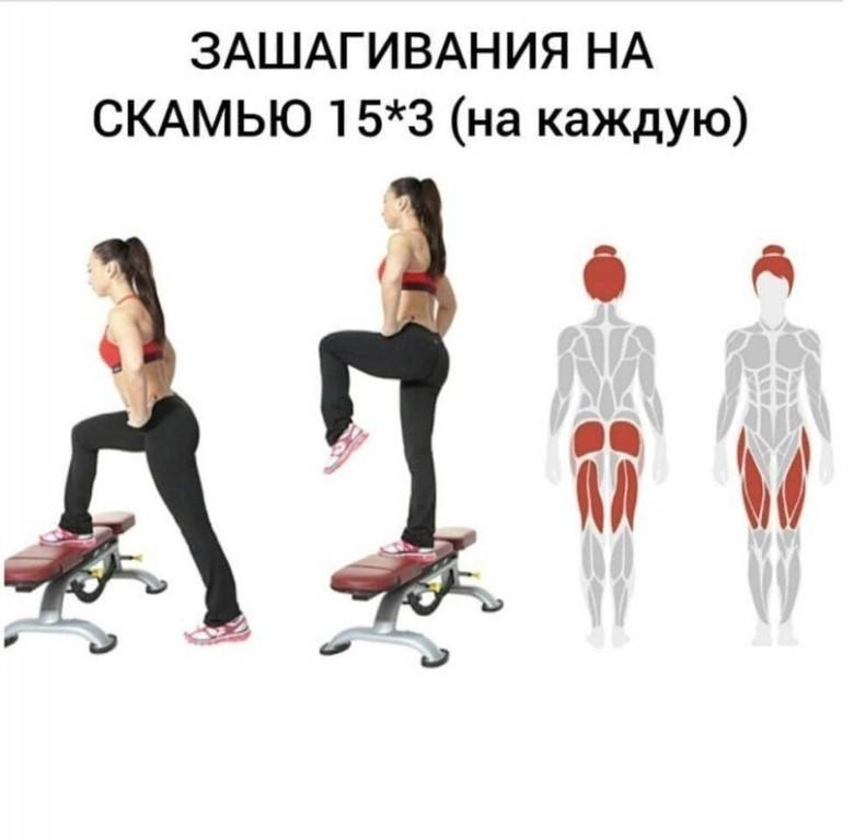 Топ 12 эффективных упражнений для упругих ягодиц