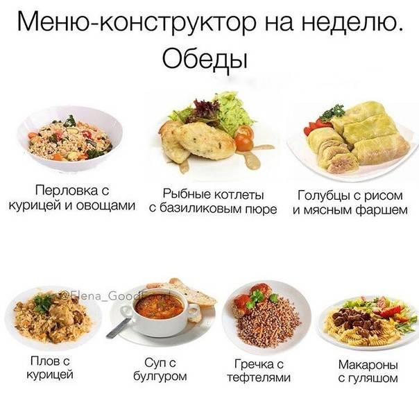 Рацион питания на неделю для похудения - диетическое меню и набор продуктов
